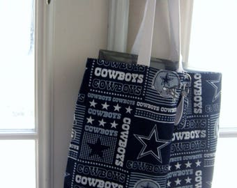 NFL-Dallas Reversible Cloth Bag with Key FOB to Match - Shipping Included