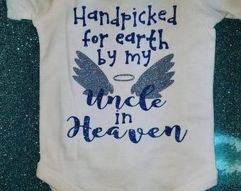 Glitter Onesie--Hand Picked In Heaven