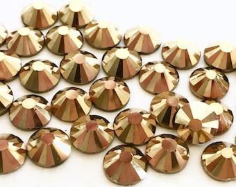 144 pcs., 720 pcs. or 7200 pcs./Gold Hematite SS20 Hot Fix (Hotfix)  Iron on or Glue On Crystal Rhinestones  5mm / 144 Pieces