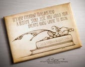 A FRIDGE MAGNET that's all about the importance of bed time stories...by the Picsees