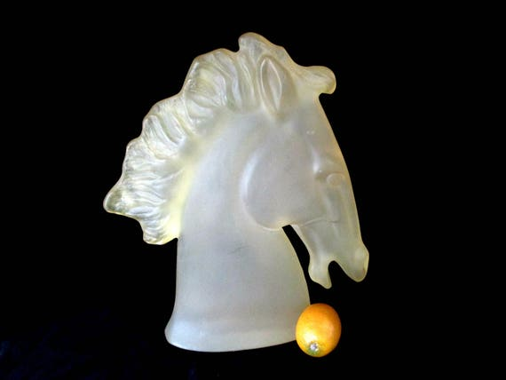 Large Horse Head Statue, Acrylic Lucite Horse Statue, Gift for Horse Lovers, Statement Piece