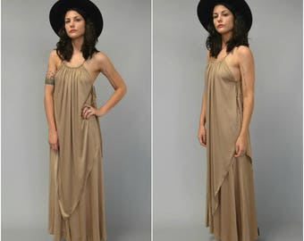 1970s layered Grecian maxi dress