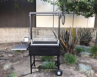 Santa Maria BBQ Grill with Height adjustable rotisserie
