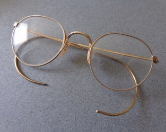 B & L wire rim Eye Glasses Ful Vue A O, Arco Semi Round shape, 1 10th 12K Gold Filled frame, Perscription Lens Bausch Lomb
