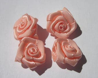 4 fabric bow in the shape of flower 14-15 mm approximately (100)