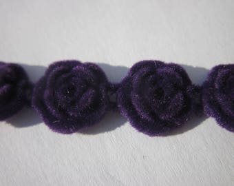 2 flowers to paste (Q25) 12 mm purple suede