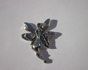 charm pendant fairy silver 2.5 cm (24)
