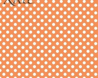 Knit - Orange/White Small Dot Jersey Cotton/ Spandex Knit (K-350-60) by Riley Blake Designs