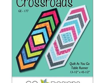 "Pattern ""Crossroads Runner"" GED177 by Gudrun Erla / GE Designs Paper Pattern Sewing Card Tablerunner"
