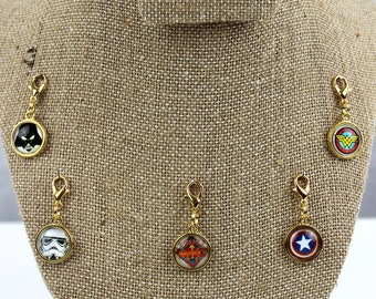 Planner Charm - Heroes and Villians Patterned Planner Jewelry, Accessories