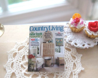 dollhouse magazine country 12th scale miniature book reading home decor