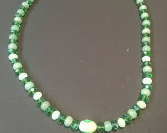 Jade and Glass Necklace