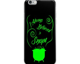 """Support Snape"""" Harry Potter Inspired Slytherin, Severus Snape iPhone Case"""