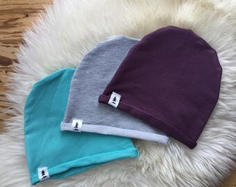 Set of Two Bamboo Beanies