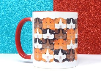 Guinea pig mug, Guinea pig cup, Cute mugs, Ceramic mug, Gift for her, Tea cup, Coffee cup, Animal mug, Cute mug design, Home and Living,