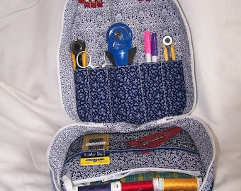 Gear Bag, Sewing Gear Bag, Project Bag, Notions Case, Traveling Bag.