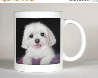 Maltese Dog Mug, Personalized Maltese Mug, Maltese Gift