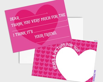 15 - Fill In The Blank Thank You Cards for Kids