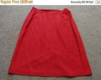 50% OFF Vintage red Skirt size medium 30 inch waist  24 inch length
