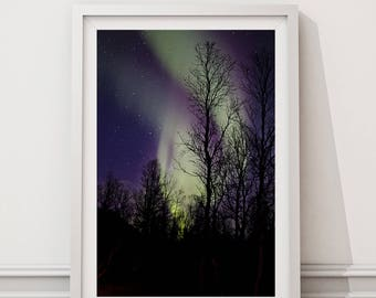 Northern lights, Landscape photography, Nature photography, Purple and green, Night photography, Aurora Borealis, Night photography