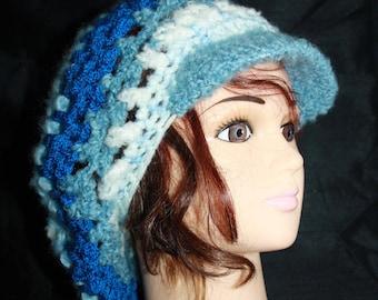 multicolored hat, crochet, very hot 9