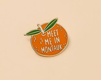 Clementine Pin // Hard Enamel - Enamel Pin - Pin - Lapel Pin - Flair - Brooch - Collar Pin - By Justine Gilbuena
