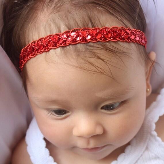 Christmas Headband Baby, Baby Girl Headband,Red Headband, Baby Headband, Headband Red, Red Headband Baby, Infant Headbands, Newborn Headband