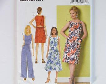 Butterick B6351 Dress/Pantsuit Pattern. UNCUT Size 14-22