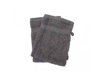 Cotton washcloth towel slate grey