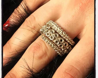 Pure Sterling Silver Octopus Tentacle Ring Octopus Ring Tentacle Ring Gold Octopus Tentacle Ring Squid Ring Squid Tentacle Calamari Tentacle