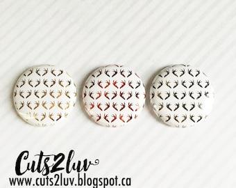 """3 badges Antlers reverse metal 1 """""""