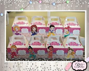 10 Baby Princess party boxes