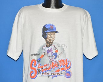 80s New York Mets Daryl Strawberry Caricature t-shirt Extra Large