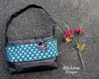 Leather and Lattice Handbag - PDF crochet pattern ONLY - purse, bag, lattice print