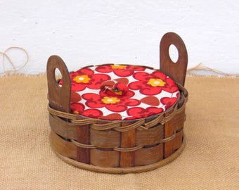 Vintage Sewing Basket - Vintage Knitting Basket - Sewing Box - Jewelry Box - Home Decor