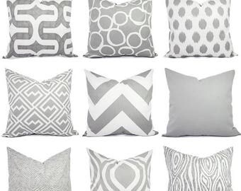 15% OFF SALE Throw Pillow Cover   Grey Pillow Cover   Grey Pillow Sham