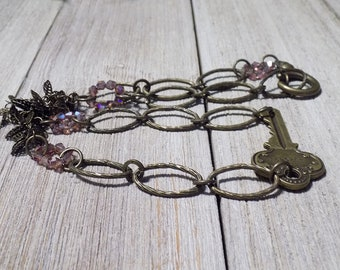 hand made vintage key necklace
