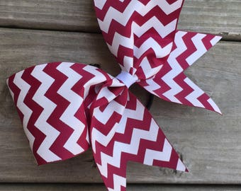 White Chevron designs on ribbon. Available in many colors.