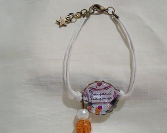 Cabochon bracelet don't do this, don't