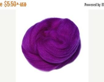 SALE Superfine Merino wool roving ,color theatre(purple)