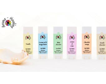 Natural Lip Balms   Moisturizing Healing Anti-Chapping Chapstick Salve with Coconut Oil and Vitamin E Gift Under 5