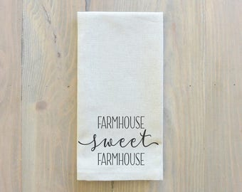 Farmhouse Sweet Farmhouse Napkin_table setting, tableware, place setting, housewarming gift, party, dinner, event, thanksgiving, fall