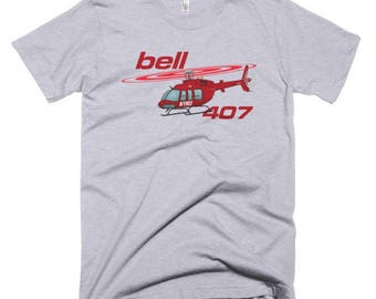 Bell 407 Custom Helicopter T-shirt - Personalized with Your N#