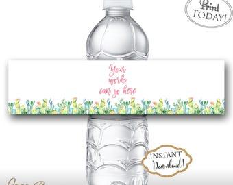 INSTANT DOWNLOAD - Cactus Water Bottle Labels - Southwest Water Bottle - Succulent Water Bottle Labels - Cactus Label - 0551 0552 0553 0554