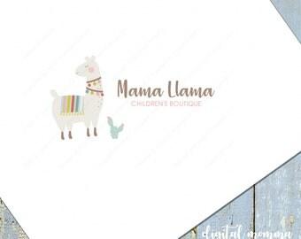 Premade Llama Logo Design, Llama Logo, Children's Logo, Crochet, Knitting Logo, Llama Branding