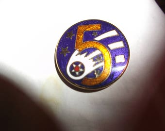 Vintage US Military USAF 5th Army Air Corp Hat Pin