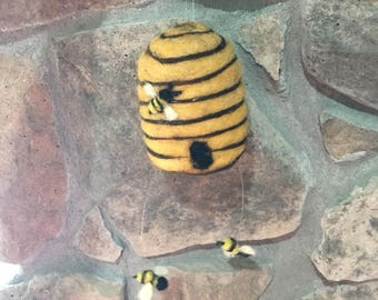 Felted Bee Hive