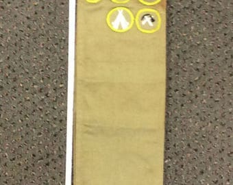 """10% OFF 3 day sale Vintage Boy Scouts Of America 62"""" Sash With Patches Used Lot B"""