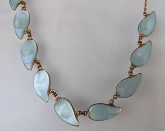 Baby Blue Lucite Plastic Necklace