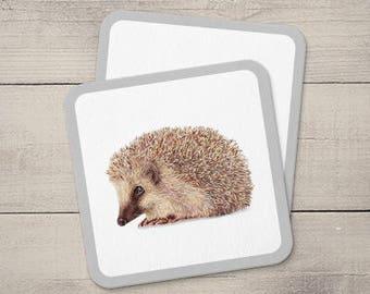 Hedgehog Coaster, Animal Coaster, Handmade Coaster, Wooden Coaster